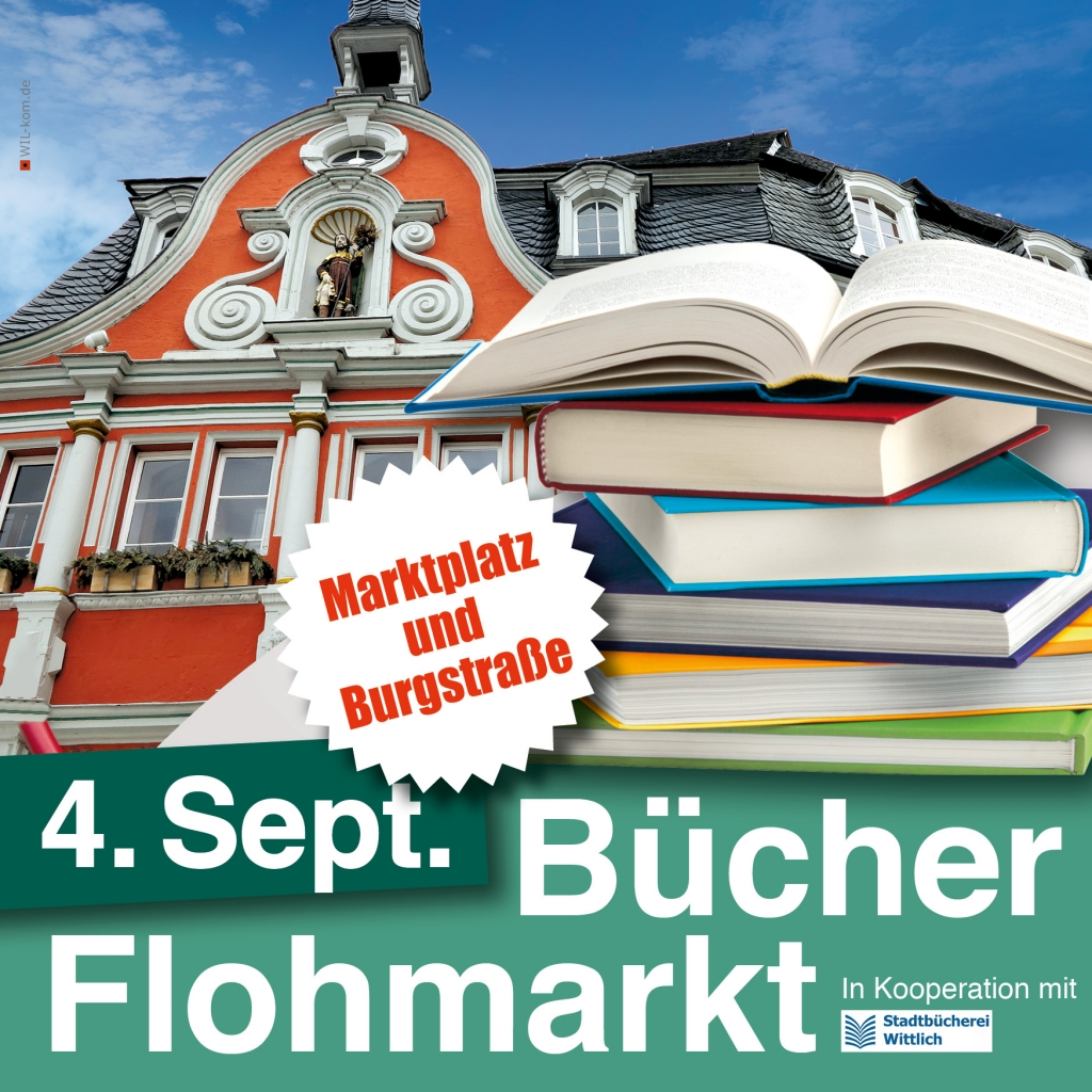 Bücherflohmarkt Wittlich am 4. September 2021